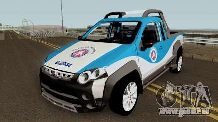 Fiat Strada Locker 2013 PMBA pour GTA San Andreas