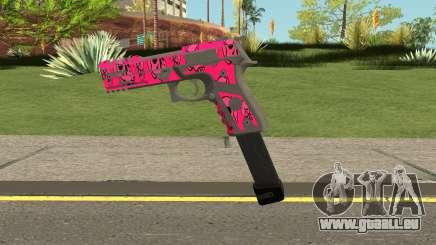 GTA Online Gunrunning Pistol MK.II Pink Skull pour GTA San Andreas