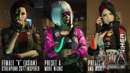 Cyberpunk Custom Female Ped pour GTA 5