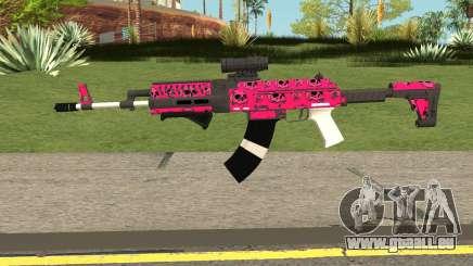 Gunrunning Assault Rifle Mk2 GTA V Pink Skull für GTA San Andreas