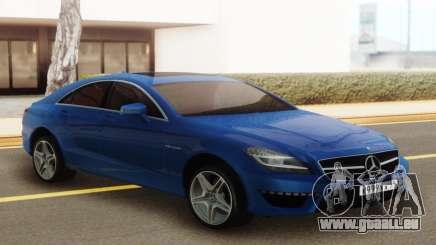 Mercedes-Benz CLS63 AMG Blue pour GTA San Andreas