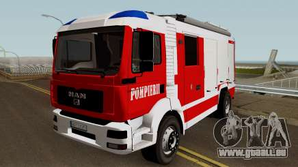 MAN TGA Pompierii (Romanian Firetruck) 2010 pour GTA San Andreas