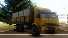 KamAZ 43118 Flachbett-trailer