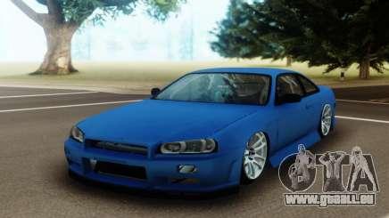 Nissan Silvia S14 Facelift R34 pour GTA San Andreas