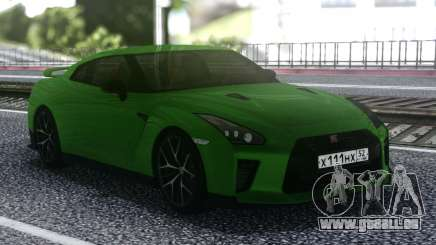 Nissan GT-R R35 Coupe Green pour GTA San Andreas