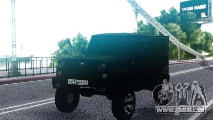 UAZ hunter Traîneau FSB pour GTA San Andreas