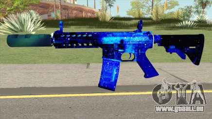 M4A1 Blue Space Silenced für GTA San Andreas