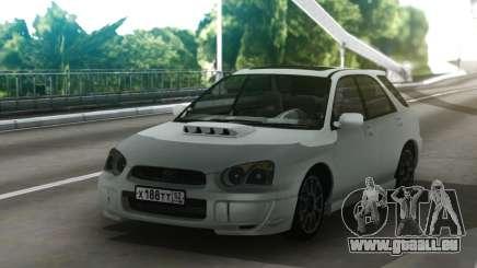 Subaru Impreza WRX Wagon White pour GTA San Andreas