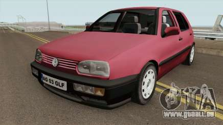 Volkswagen Golf 3 1994 Arges Number Plate pour GTA San Andreas