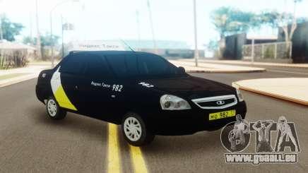 Lada Priora Taxi Yandex für GTA San Andreas