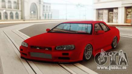 Nissan Skyline ER 34 Red für GTA San Andreas