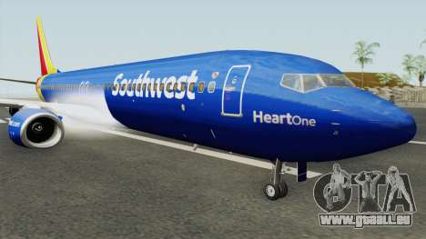 Boeing 737-800 Southwest Airlines (Heart Livery) pour GTA San Andreas