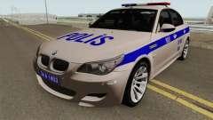 La police turque voiture BMW M5 E60 pour GTA San Andreas