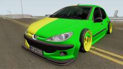 Peugeot 206 Two Face für GTA San Andreas