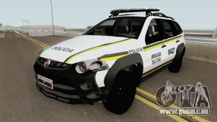 Fiat Palio Weekend Brazilian Police (White) für GTA San Andreas