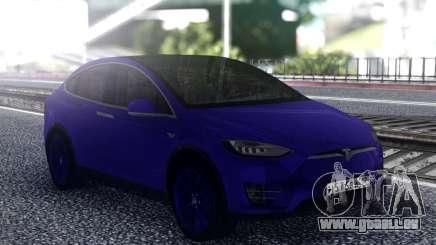 Tesla Model X Blue pour GTA San Andreas