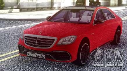 Mercedes-Benz S63 W222 2018 Red für GTA San Andreas