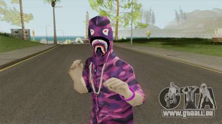 Skin BAPE Purple Camo pour GTA San Andreas