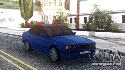 BMW M5 E34 Blue Sedan für GTA San Andreas
