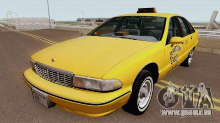 Chevrolet Caprice 1991 Taxi HQ für GTA San Andreas