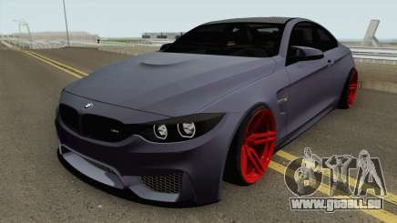 BMW M4 2014 SlowDesign (Red Wheels) für GTA San Andreas