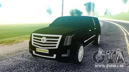 Cadillac Escalade Pure Black pour GTA San Andreas