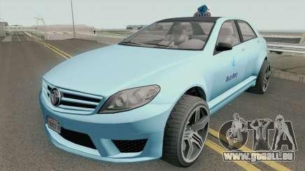 Benefactor Schafter Blue Bird Taxi GTA V pour GTA San Andreas