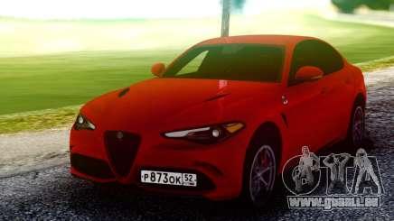 Alfa Romeo Giulia Quadrifoglio 17 für GTA San Andreas