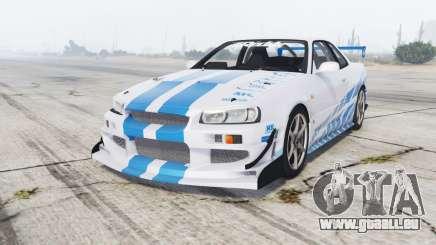 Nissan Skyline GT-R (BNR34) 1999 [replace] pour GTA 5
