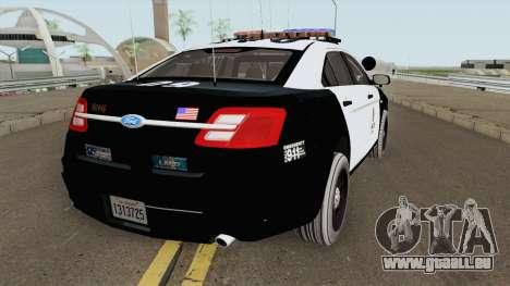 Ford Taurus Police Interceptor LAPD 2015 pour GTA San Andreas