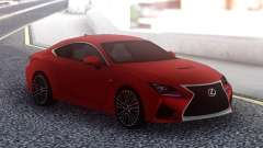 Lexus RC F Red pour GTA San Andreas