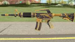 CS:GO M4A1 (Snakebite Gold Skin) pour GTA San Andreas
