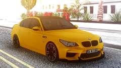 BMW M5 E60 Yellow für GTA San Andreas
