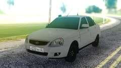 Lada Priora White Sedan pour GTA San Andreas