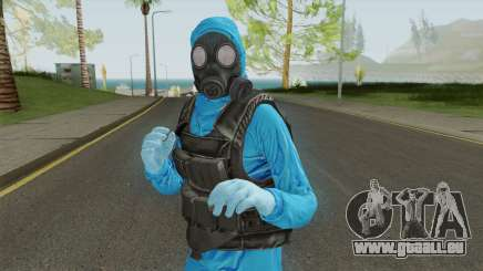 HazMat Skin Blue pour GTA San Andreas