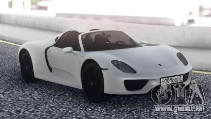 Porsche 918 Spyder White für GTA San Andreas