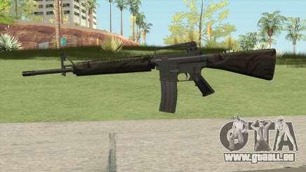 M16A2 Partial Jungle Camo (Ext Mag) pour GTA San Andreas