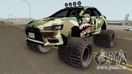 Mitsubishi Evolution X Off Road Camo Shark pour GTA San Andreas