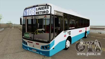 Todobus Pompeya II Agrale MT15 Linea 108 Interno pour GTA San Andreas