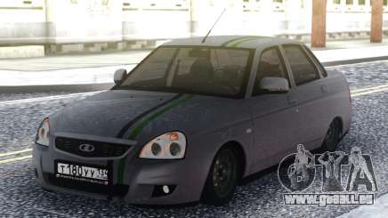 Lada Priora Grey Sedan für GTA San Andreas