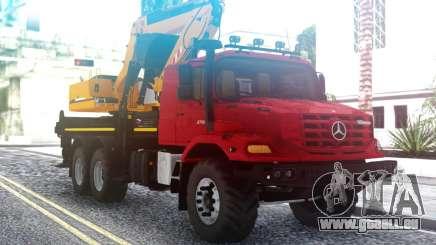 Mercedes-Benz Zetros Excavatrice pour GTA San Andreas