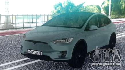 Tesla Model X Grey pour GTA San Andreas