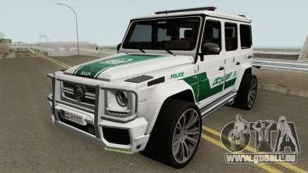Mercedes-Benz G700 Brabus Widestar Dubai Police pour GTA San Andreas