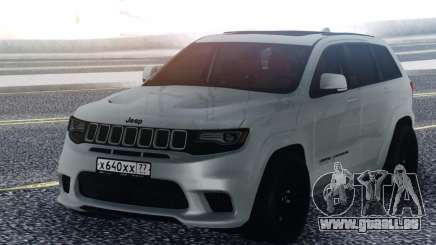 Jeep White Grand Cherokee für GTA San Andreas