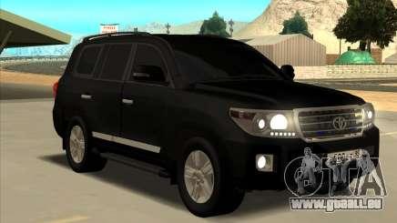 Toyota Land Cruiser 200 2013 Black pour GTA San Andreas