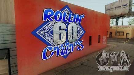 Rollin 60 Crips Mural pour GTA San Andreas