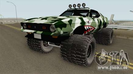 Ford Mustang Off Road Camo Shark 1971 pour GTA San Andreas