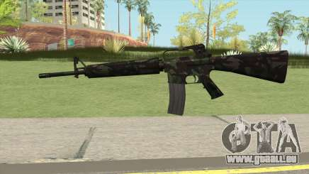 M16A2 Full Forest Camo (Ext Mag) pour GTA San Andreas