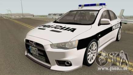 Mitsubishi Lancer Evolution X POLICIJA BiH pour GTA San Andreas
