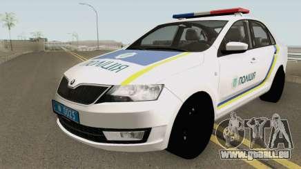 Skoda Rapid (Police Of Ukraine) pour GTA San Andreas